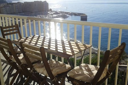 Monaco Cap d'Ail - Beach, Balcony and BBQ. - Flat