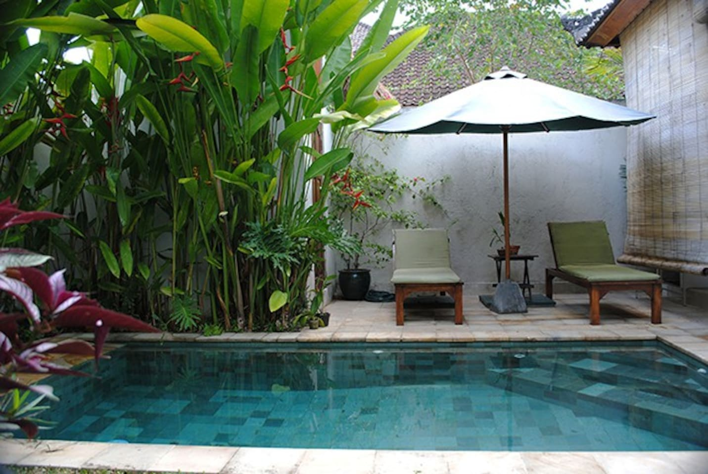 Your own private pool beside the open living area.