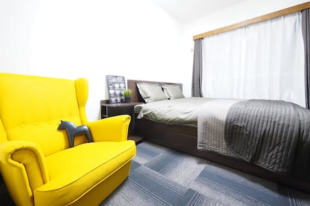 1min station Close to Tsukij Queen size bed +WiFi - Chūō-ku - Daire