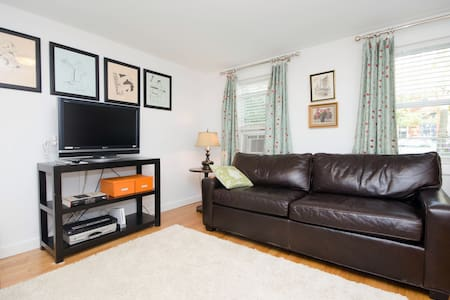 Bright, newly renovated private nonsmoking apt on the lower level of our house, sleeps two comfortably, can accommodate 3. Brand new kitchen  and bath, comfy chic décor.  3 blocks to 7th Ave F Train. 2 blocks to Prospect Park.