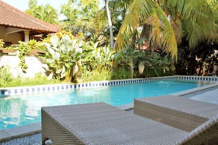 8R-2Qu Bed Villa TV,Kitc,AC,WF,Pool - Kuta - Villa