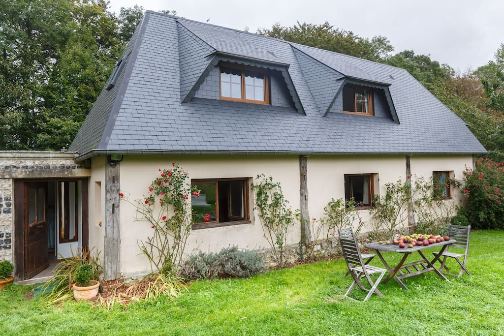 The calm, the nature, for a large and cosy house, completely refurbished