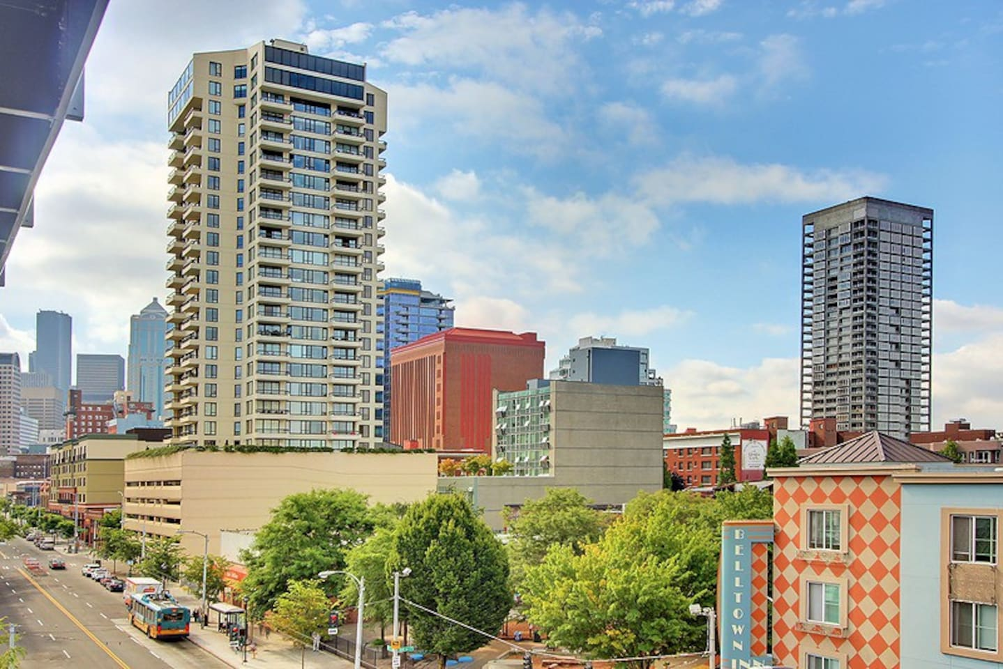 Take in the sights and sounds of the city from your own private balcony