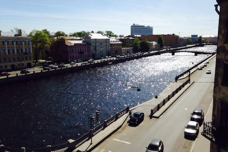 Huge room, stunning view in central St. Petersburg - Apartment