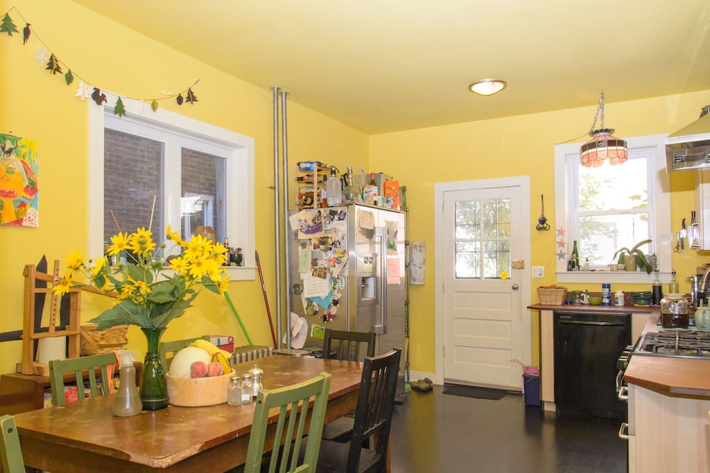 """Kitchen, """"the galley"""" shared with family and other guests"""