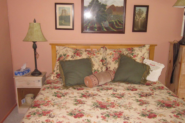 Your bedroom with queen bed