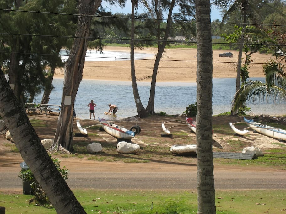 view of Anahola River from your apartment