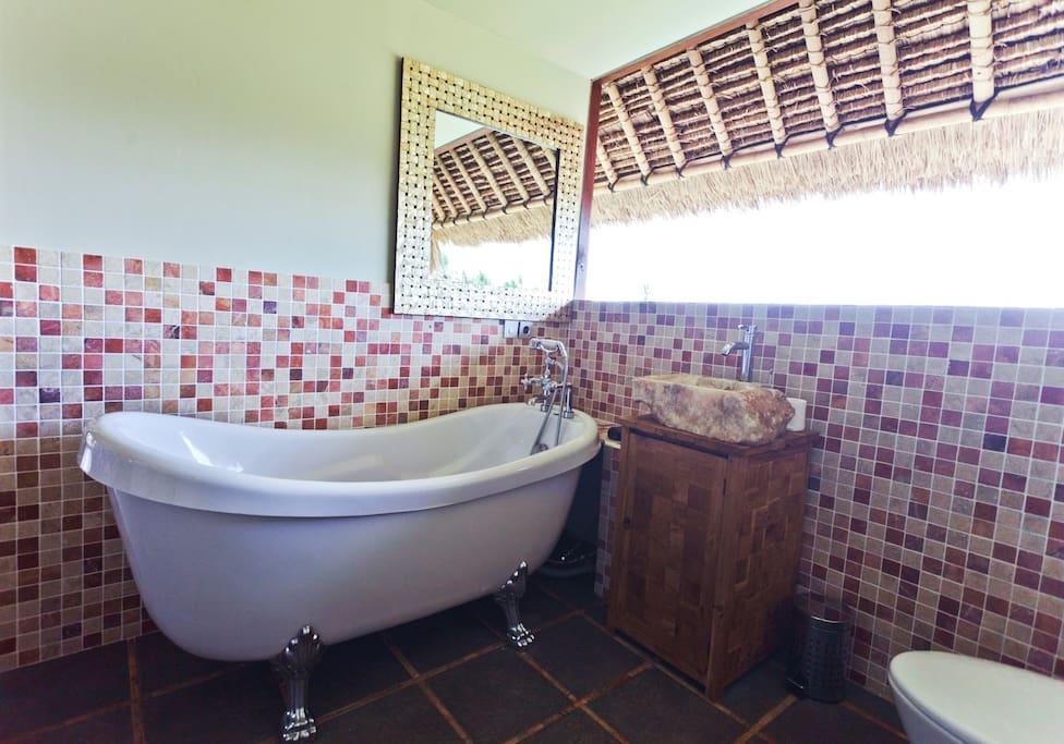 "Master bathroom in the ""Penthouse Studio"""