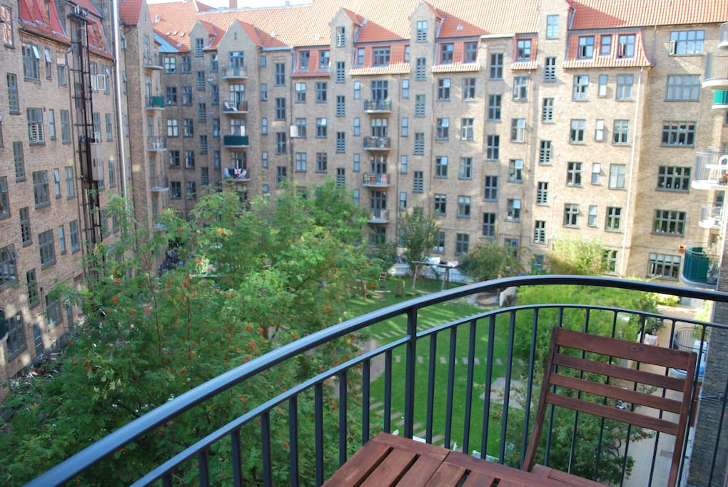Balcony and court yard