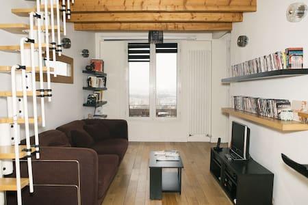 Duplex lumineux, vue sur Paris - Apartment