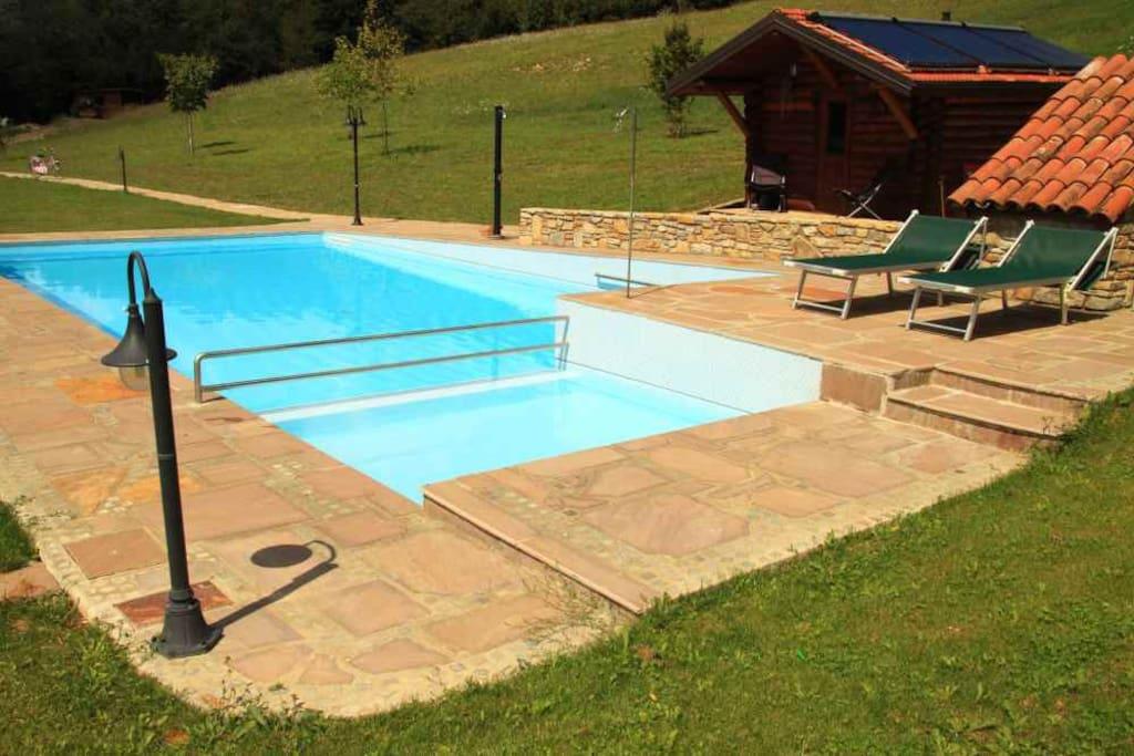the pool and the sauna