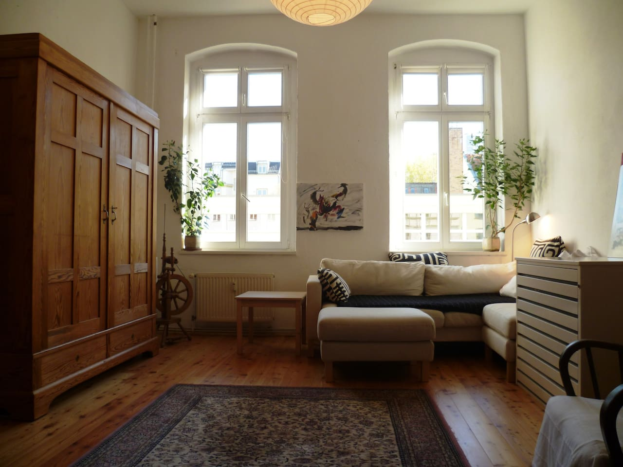 Huge, bright and sunny room.