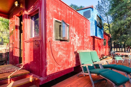 Train Caboose with view near Malibu - Train