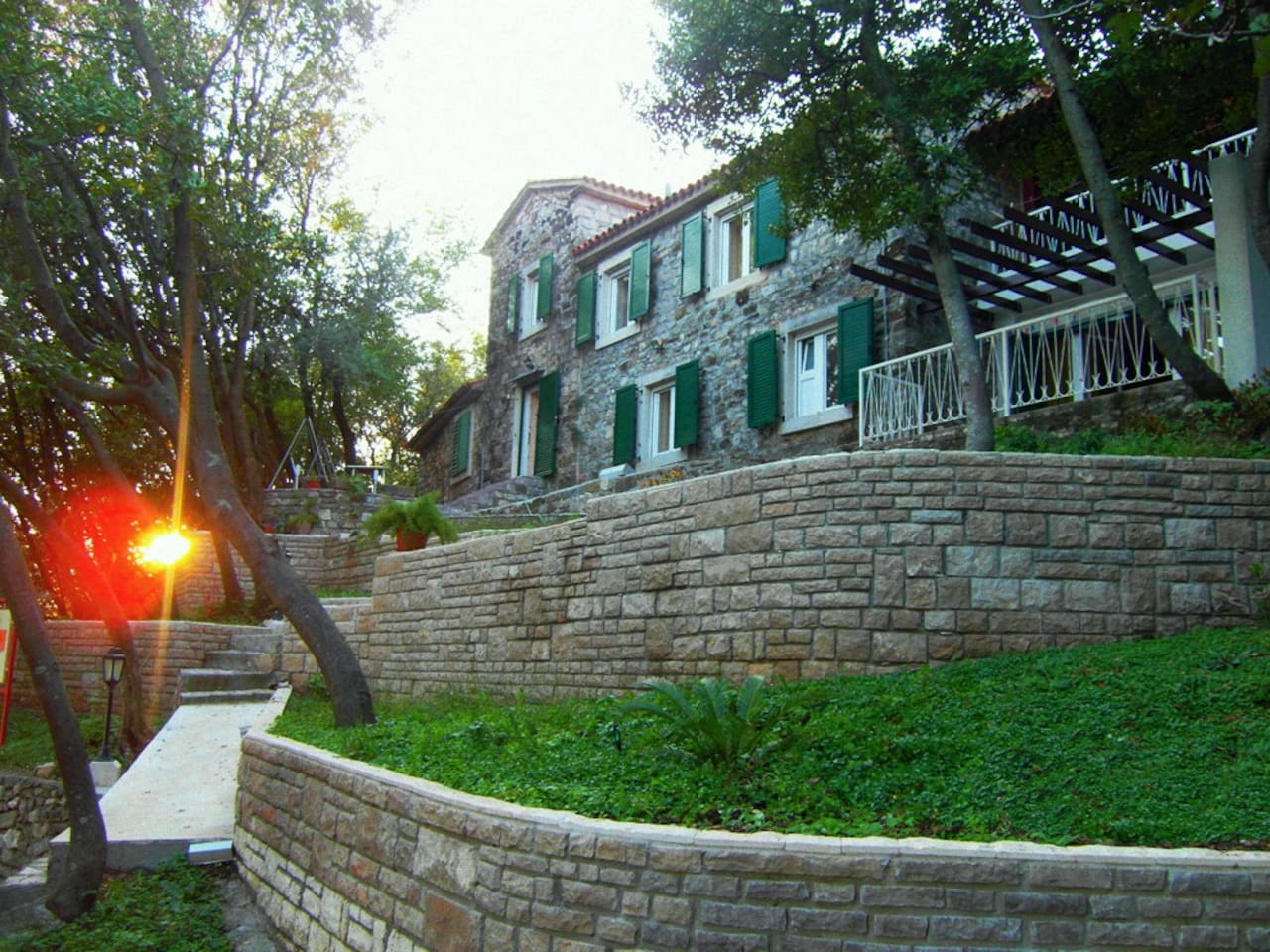 Old Stone House From 19th Century - dusk view.