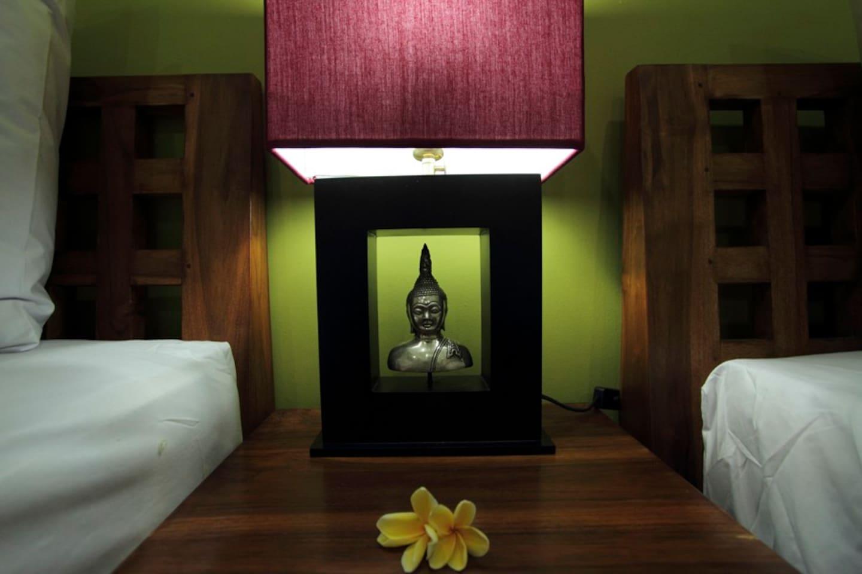The bedroom sidelamp
