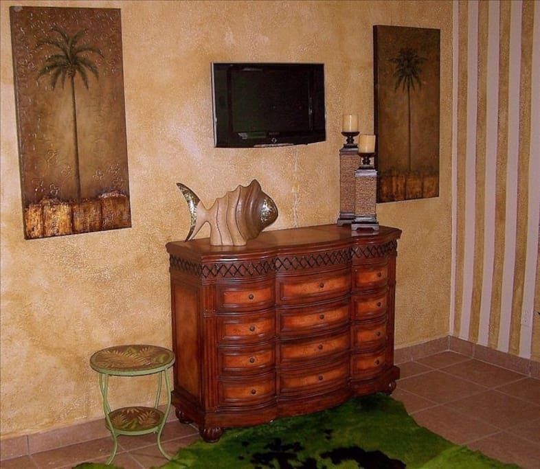 Quality furnishings and wall mounted TVs in the bedrooms