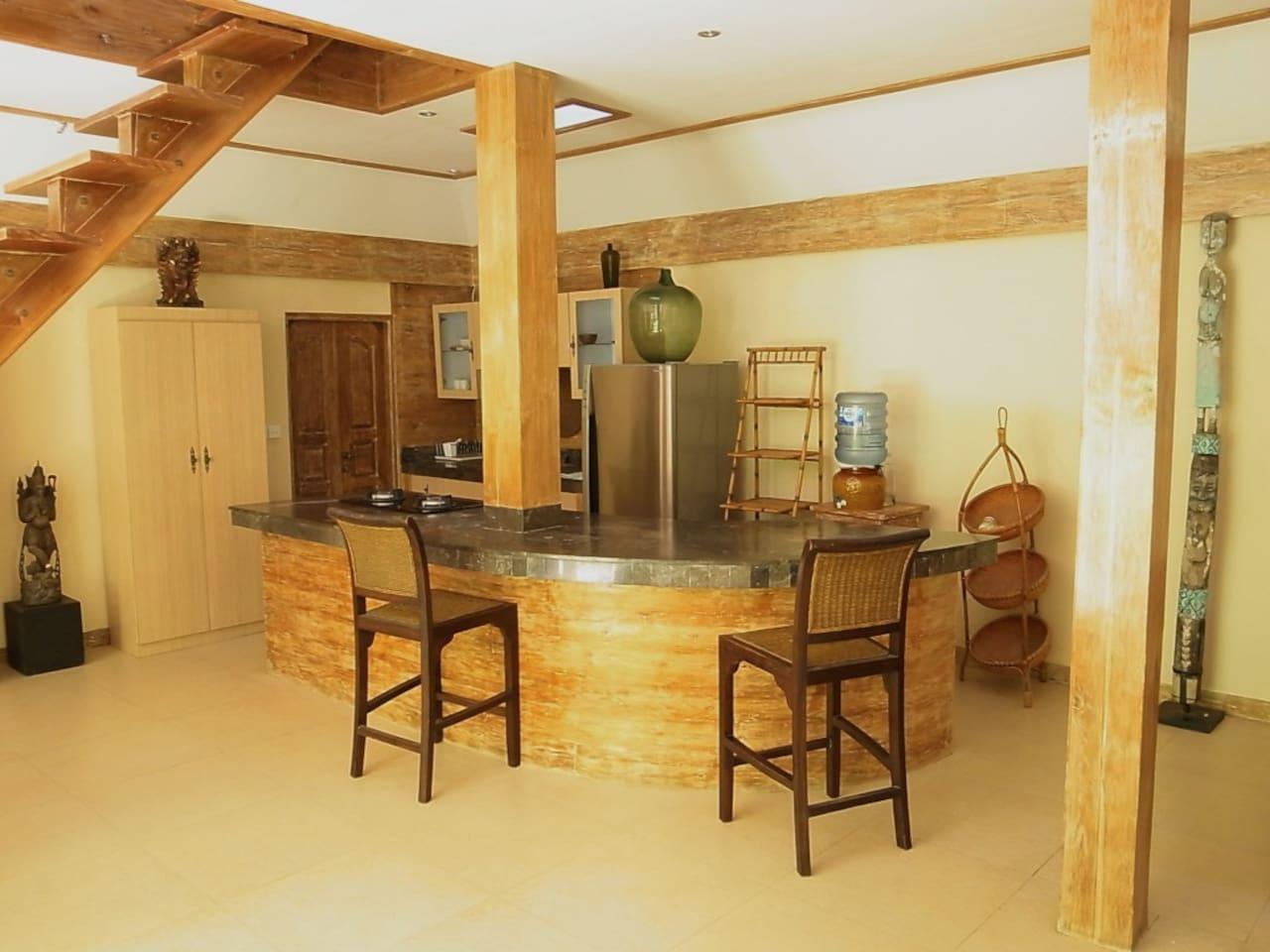 the kitchen bar...