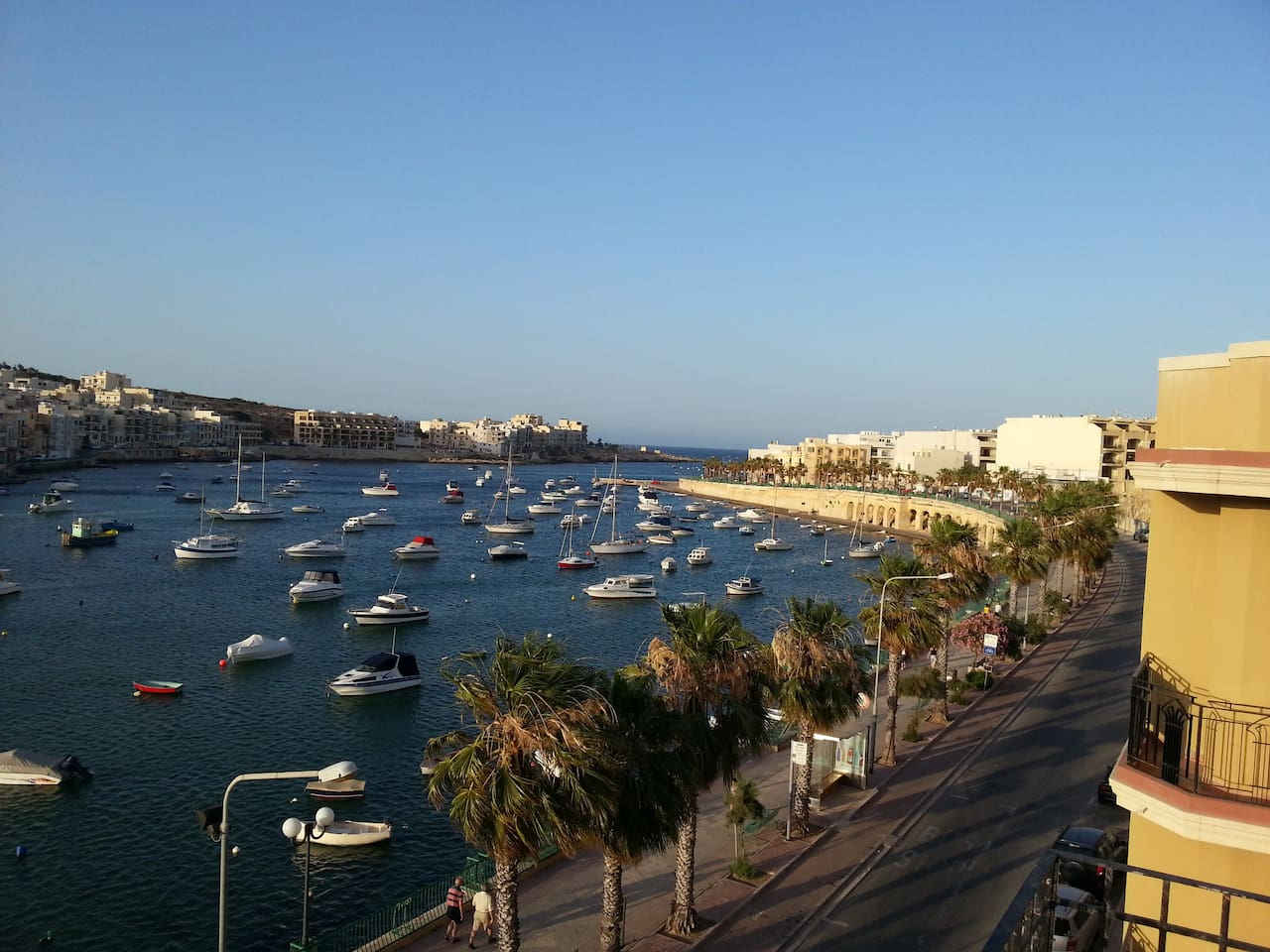 View of Marsascala Bay from Akwador roof terrace.