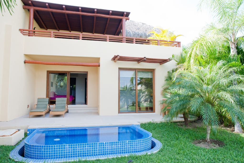 View of garden and private plunge pool