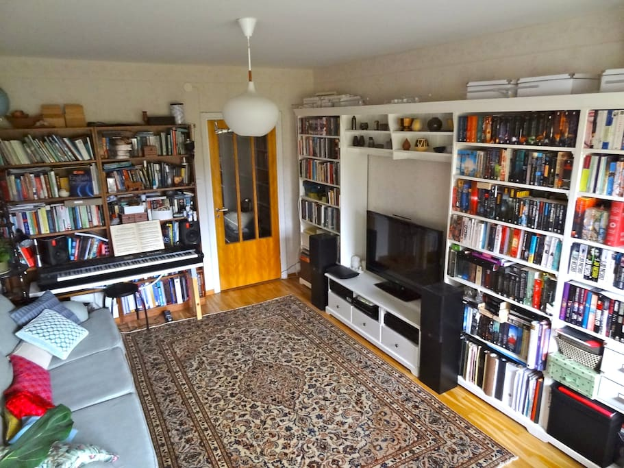 Living room viewed from the bay window