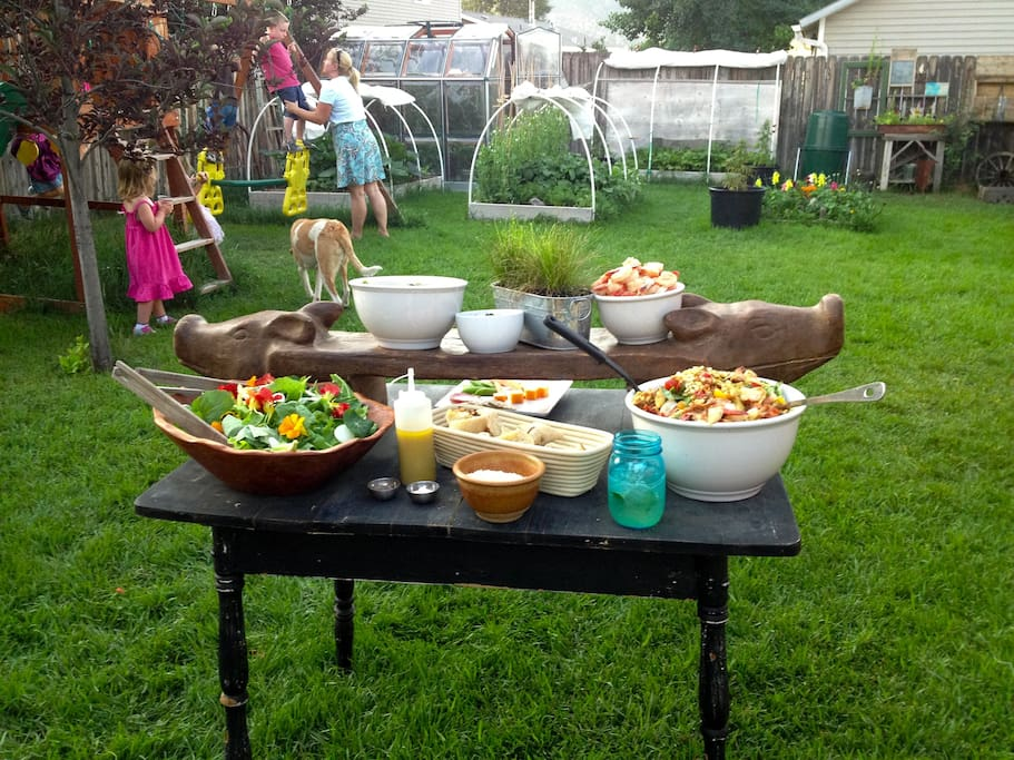 Summer outdoor dinner party for you and your guests!