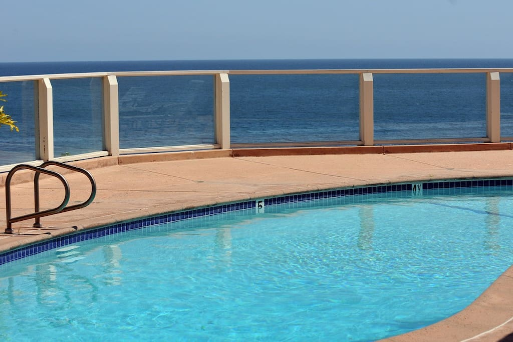 pool with panoramic ocean view