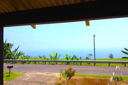 OCEAN VIEW!  EXPLORE THE WAIPIO VALLEY - Honokaa - Haus