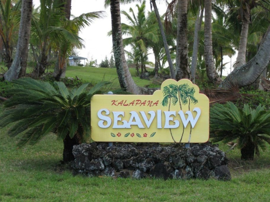 Our ocean front park in front of Kalapana-Seaview Estates !
