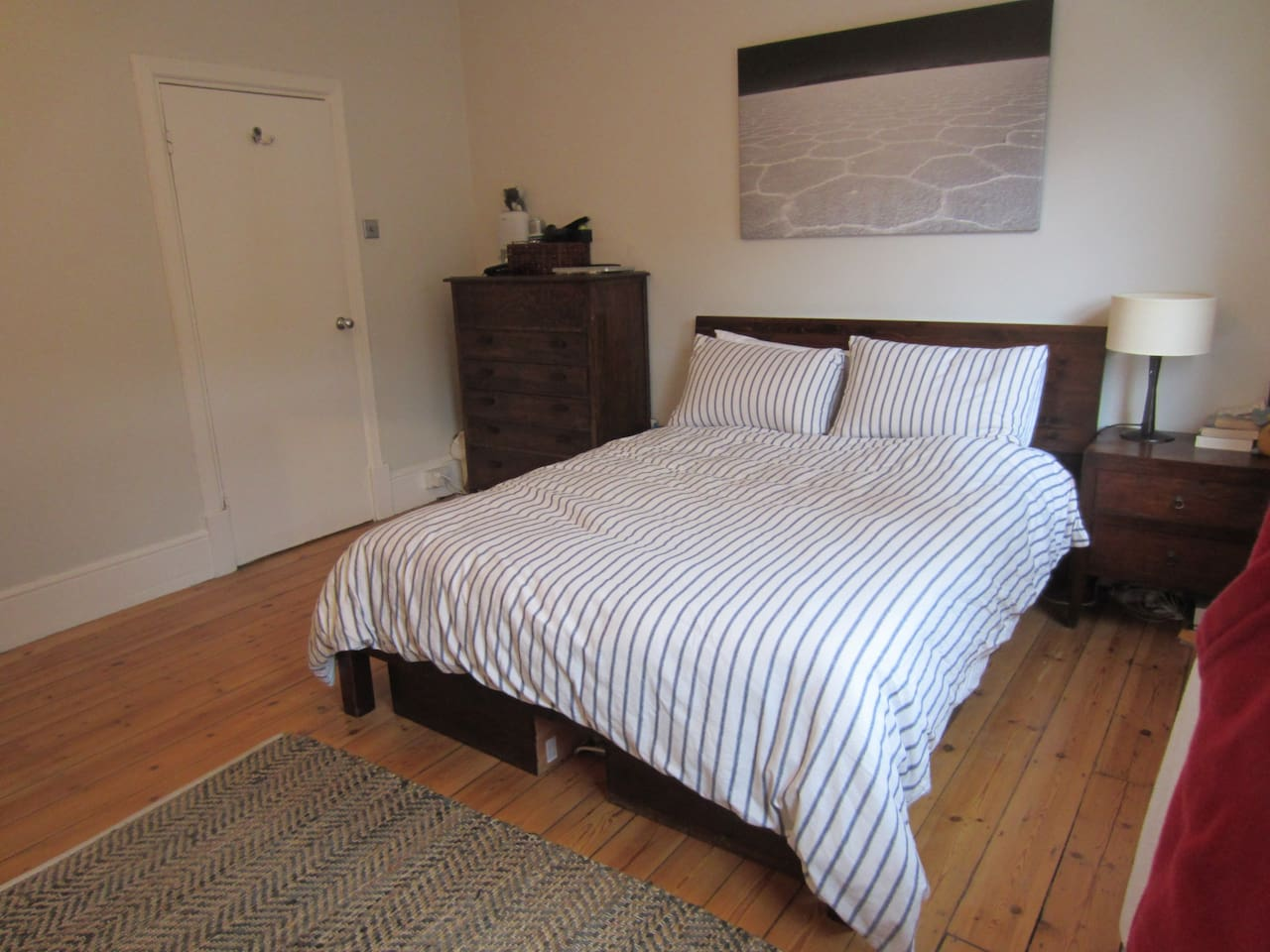 The Master Bedroom - Large, Bright and Quiet with a High Quality King Sized Bed