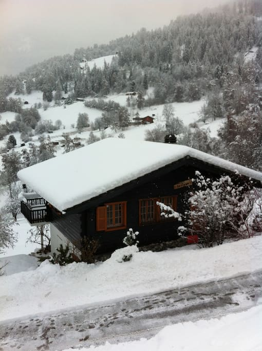The chalet is located on private small road