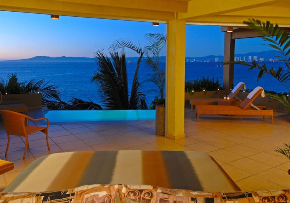Jump out of bed into the pool! Or down your private stairs to the ocean!