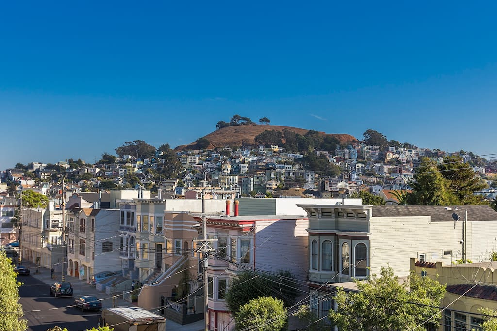Beautiful view of Bernal Hill
