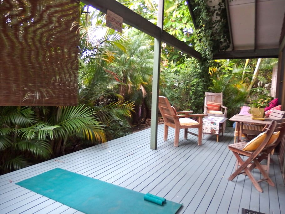 Undercover deck for relaxing in any weather
