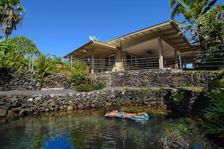 Luana Hideaway W/Private Warm Pond - Pāhoa