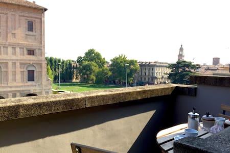 Mansarda vista Palazzo della Pilotta - Parma