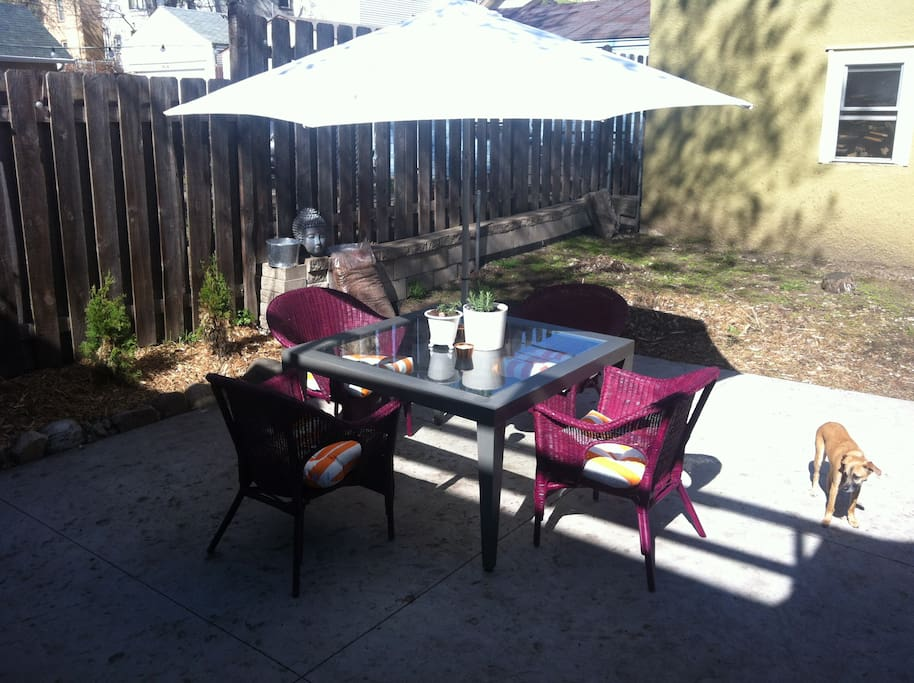 Dine outdoors when weather permits!