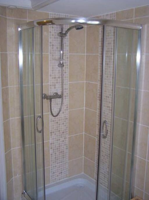 Shower in Main Apartment - With Instant Hot Water