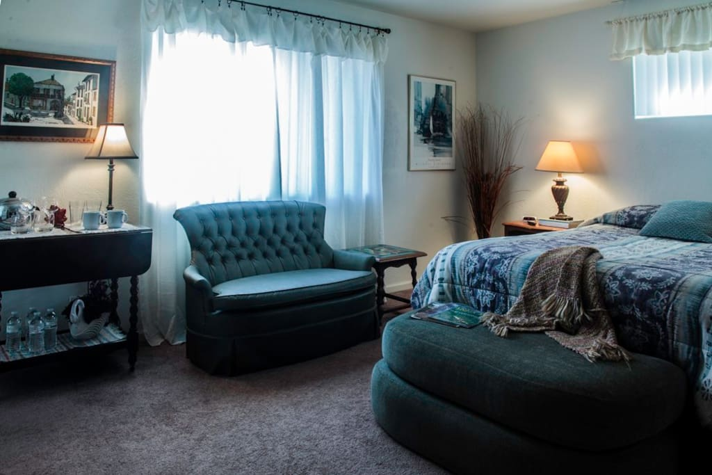 Plenty of room to be comfortable in guest room.
