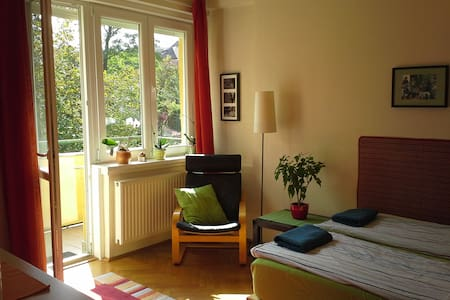Bright double room for rent in the heart of Buda - Appartement