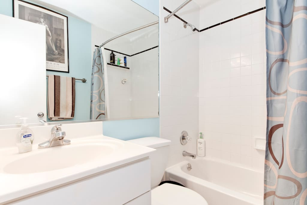 YOUR OWN PRIVATE BATHROOM w/vanity,  fresh towels, soaps & shampoo