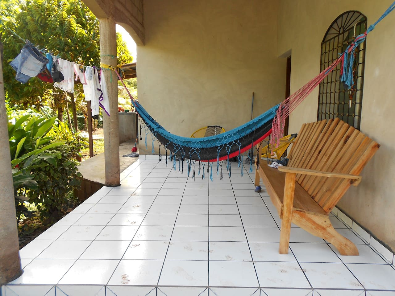 Front patio looking out to coffee plants