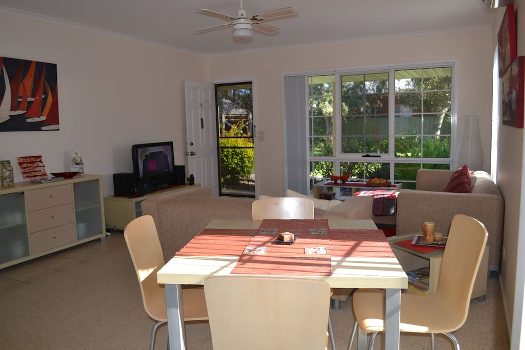 Bright open plan kitchen, dinning and sitting room