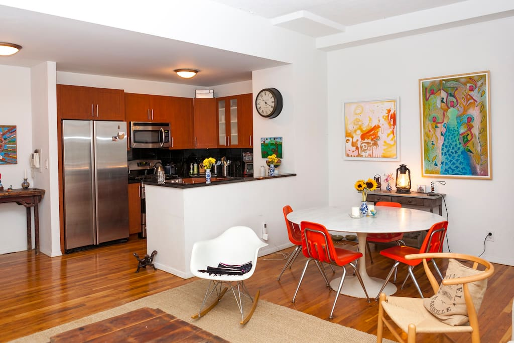 2 BR loft on charming tree-lined St