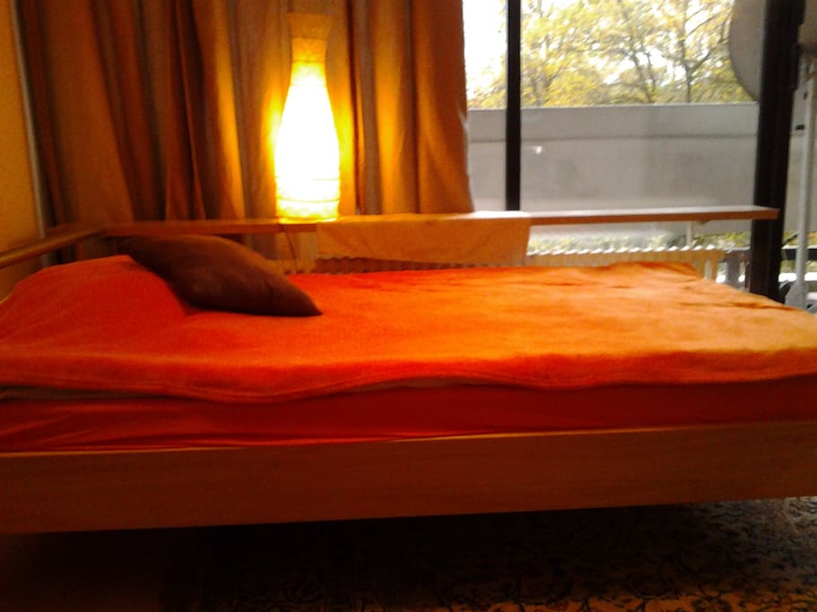The bed for one or two persons...