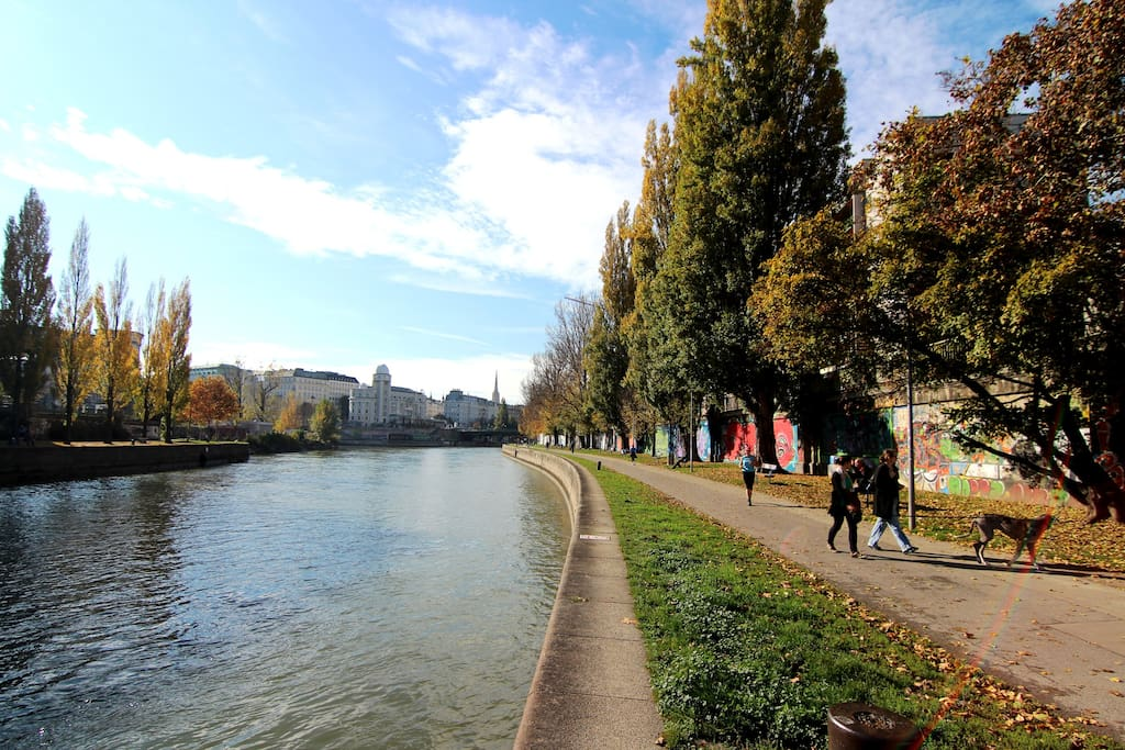 DANUBE CANAL DIRECTLY IN FRONT OF THE MAIN ENTRANCE
