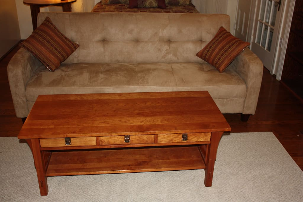 sleep couch and table