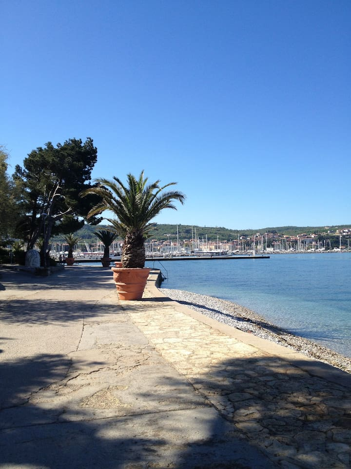 Seaside walk to Izola center