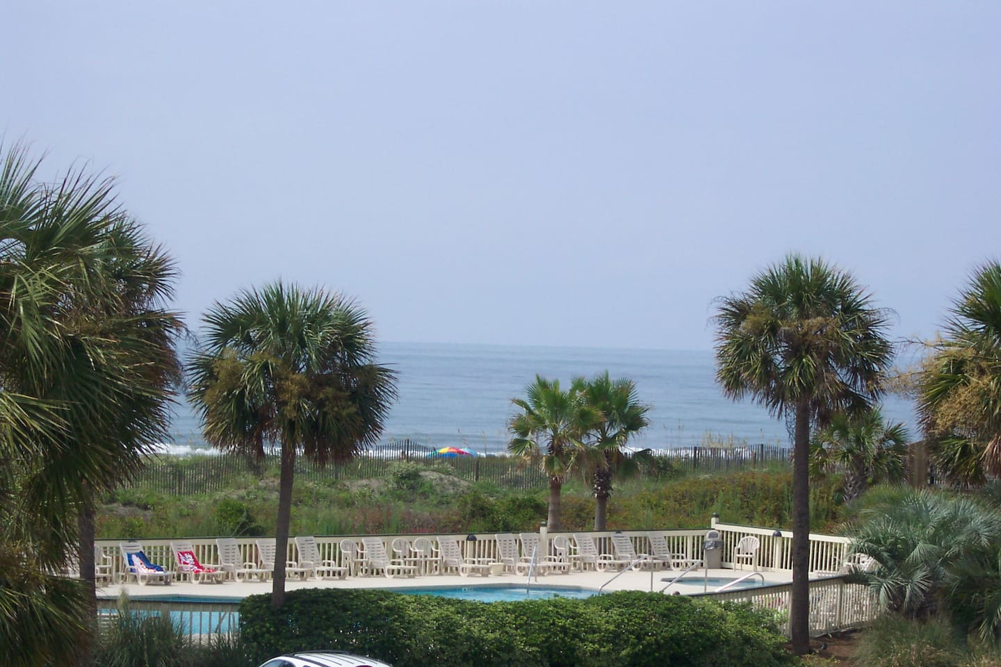 This pic of the view is taken from our balcony, and shared from LR and Kit, as we face straight out in the middle bldg.