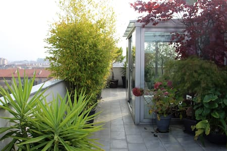 Stylish and cozy loft w/roof terrace, view on Alps - Città Metropolitana di Torino