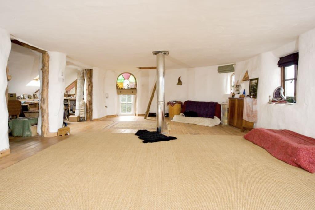 Upstairs bedroom/ yoga/ studio space. Light and spacious.